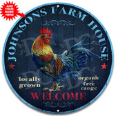 Farm House Country Rooster Metal Sign