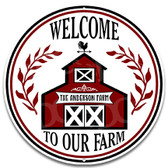 Farmyard Farmer Barn Metal Wall Sign