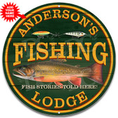 Fishing Lodge Metal Wall Sign - Customized