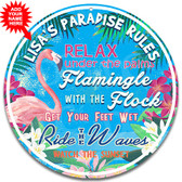 Flamingo Rules Metal Wall Sign - Customized