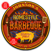 Backyard Grilling Metal Wall Sign - Customized