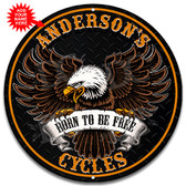 Motorcycle Biker Garage Metal Wall Sign - Customized