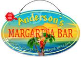 Margarita Bar Paradise Metal Hanging Wall Sign