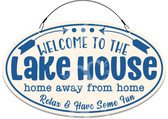 Lake House Cottage Tan Welcome Sign