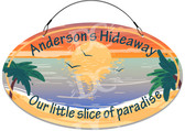 Paradise Hideaway Cottage Welcome Sign -  Customized