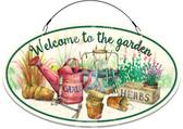 Backyard Gardening Tools Yard Sign