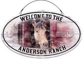 Horse Barn Ranch Themed Barn Sign - Customized