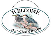 Crain Themed Welcome Decorative House Sign - Customized