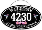 Hummingbird Address Metal Sign