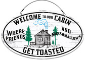 Cabin Decorative Welcome Sign