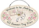 Summers Day Bicycle Decorative Welcome Sign - Customized