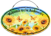 Sunflowers In Bloom Decorative Welcome Sign - Customized