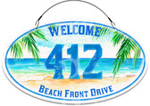 Tropical Seascape Themed Decorative Welcome Sign - Customized
