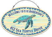 Sea Turtle Ocean Themed Decorative Welcome Sign - Customized