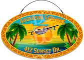 Seaplane Sunset Decorative Welcome Sign - Customized