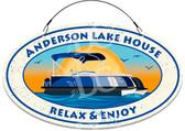 Pontoon Lake House Themed Welcome Sign - Blue