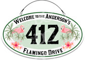 Pink Flamingos Welcome Sign - Customized