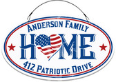 America Patriotic USA Themed House Welcome Sign - Customized