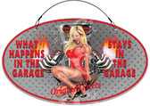 Garage Rules Hot Rod Woman Workshop Welcome Sign