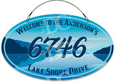Lake House Water Themed Welcome Sign - Stars