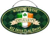 Irish Flag Home Themed Address Welcome Sign - Customized