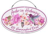 Hummingbird Garden Floral Welcome Sign - Customized