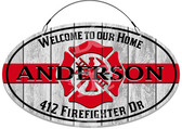 Fire & Rescue Welcome Address Sign - Customized