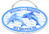 Dolphin Themed  Address Sign - Customized
