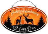 Deer Themed  Address Sign Buck and Doe