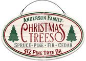 Christmas Tree Farm Holiday Address Sign - Customized