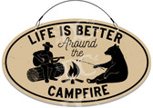 Campfire Camping Welcome Sign