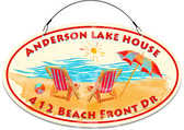 Beach Lake House Welcome Sign - Customized