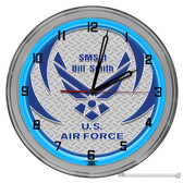 """Air Force USAF Light Up 16"""" Neon Wall Clock"""