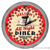 50's Coffee Shop Diner Light Up Red