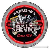 "Auto Repair Garage Light Up 16"" Neon Wall Clock"
