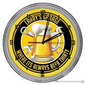 "Beer Thirty Garage Light Up 16"" Neon Wall Clock - Customized"