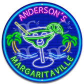 Margaritaville Neon Themed Tiki Bar Sign