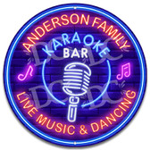 Neon Themed Karaoke Bar Wall Sign