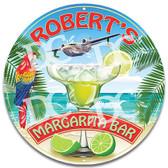 Tropical Margarita Tiki Bar Metal Wall Sign