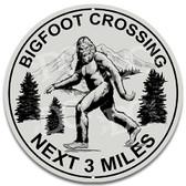 Bigfoot Crossing Novelty Metal Wall Sign