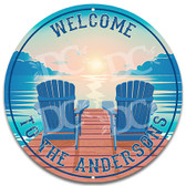 Cottage Lake House Metal Welcome Wall Sign