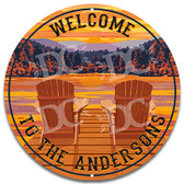 Adirondack Chair Sunset Cottage Metal Welcome Sign