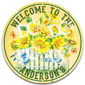Garden Flowers Home Welcome Sign - Customized