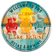 Beach Cottage Lake House Metal Welcome Wall Sign