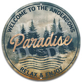 Paradise Cottage Outdoor Metal Welcome Wall Sign