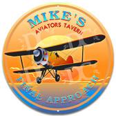 Pilot Aviator Tavern Bar Welcome Sign - Customized