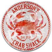 Crab Shack Metal Wall Sign