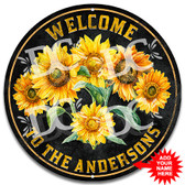 Sunflowers Porch Welcome Metal Wall Sign