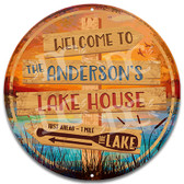 Rustic Lakehouse Welcome Sign