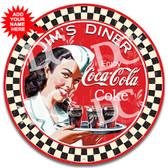 Coca-Cola Diner Vintage Metal Wall Sign